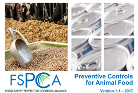 a training course on FSPCA Animal Food Prevention and control measures (FDA accredited PCQI course)